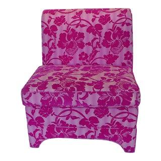 Bohemian Pink Slipper Chair