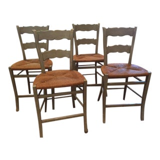 Minton-Spidell French Rush Seat Counter Stools - Set of 4
