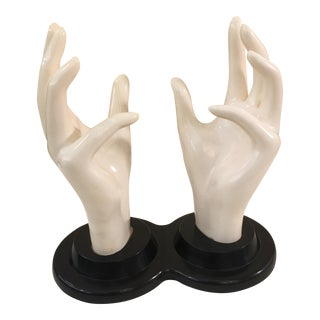 Vintage Hard Plastic Hands Ring Holder