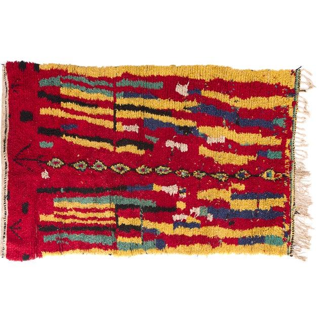 "Vintage Azilal Moroccan Berber Rug - 4'6' X 6'9"" - Image 2 of 2"