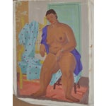 Image of 1940's Figurative Cubist Nude