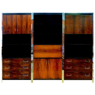 John Stuart Rosewood & Chrome Wall Unit
