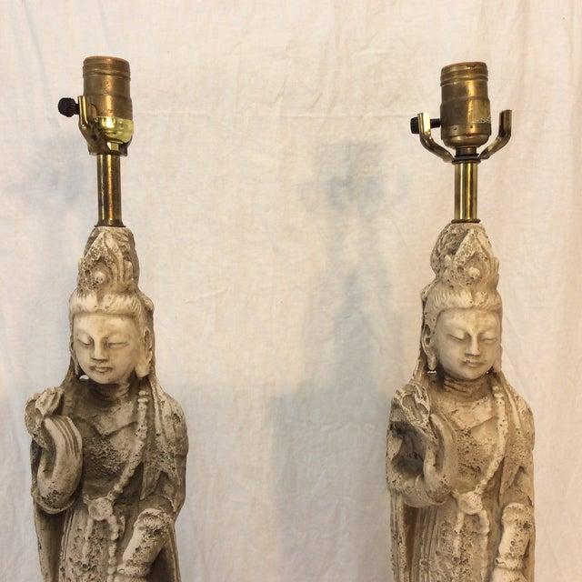 MCM Quan Yin Lamps - Pair - Image 3 of 7
