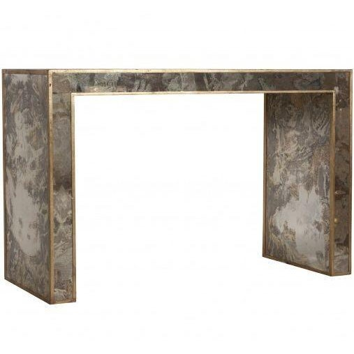 Antiqued & Mirrored Console Table - Image 1 of 9