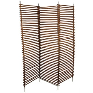 Mid Century Wood Stick & Ball Screen