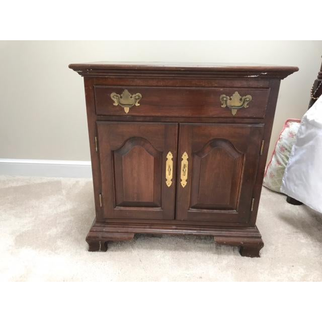 Image of Hitchcock Wooden End Table / Nightstand