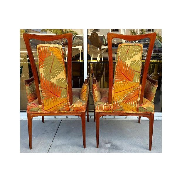 Image of Mid-Century Modernist Style Accent Chairs - Pair