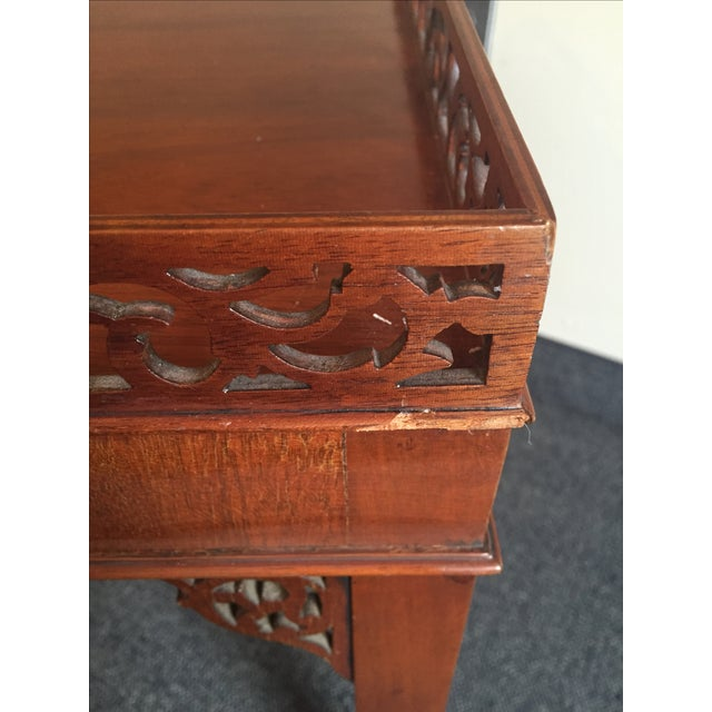 Chippendale-Style Wood Side Table - Image 6 of 7