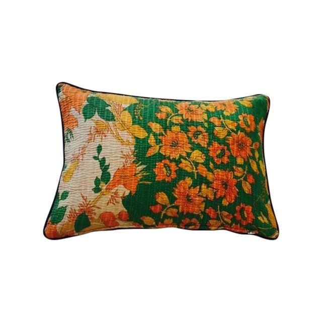 Image of Floral Kantha Pillow