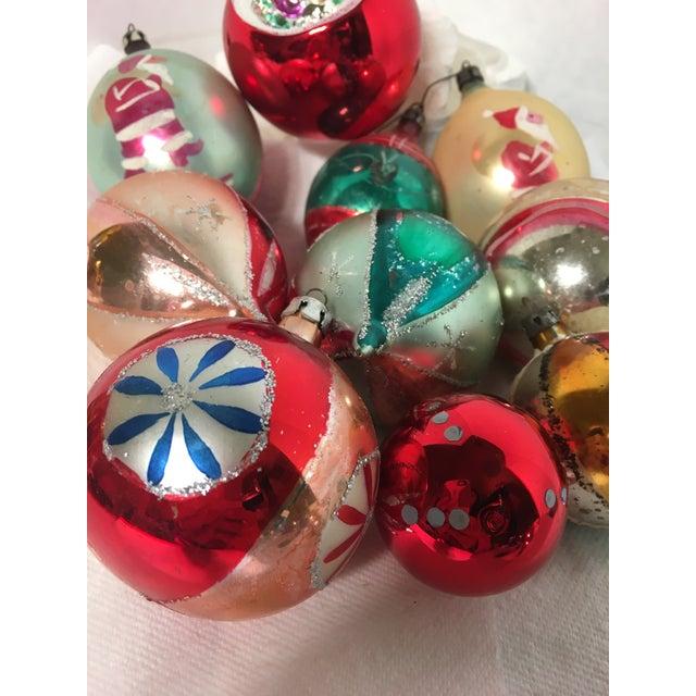 Vintage Glass Christmas Ornaments Set of 18 - Image 2 of 5