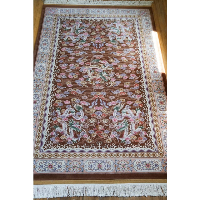 """Hand Knotted Wool Oriental Dragon Rug - 6' x 10'2"""" - Image 2 of 8"""