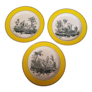 Antique French Creil Plates - Set of 3