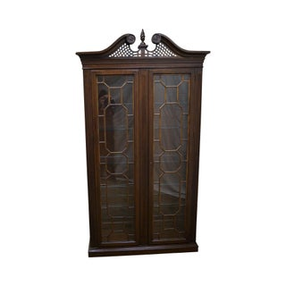 Harden Cherry Chippendale Style Curio