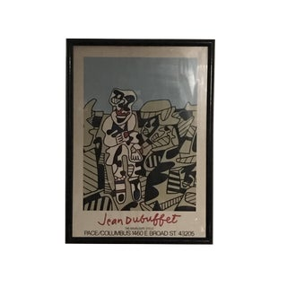 Jean Dubuffet Framed Artist Edition Exhibition Poster