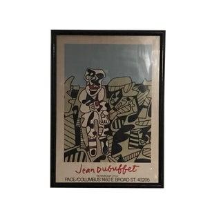 Jean Dubuffet Framed Artist Edition Exhibition Poster