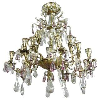 Twenty-Four-Arm Cut Crystal Chandelier by Maison Baguès for Maison Jansen