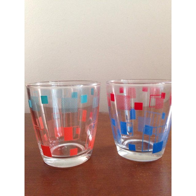 Retro Grid Cocktail Glasses - A Pair - Image 4 of 4