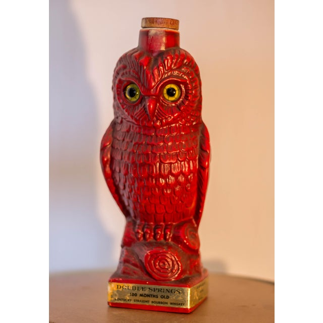 Double Springs Kentucky Bourbon Red Owl Decanter - Image 2 of 6