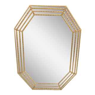 La Barge Italian Style Mirrored Frame Mirror
