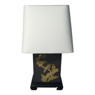 Asian Motif Brass & Metal Table Lamp