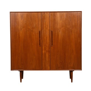 Danish Modern Gentleman's Chest / Tall Dresser in Teak