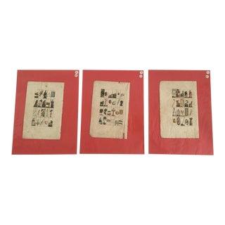 Antique Fine Art Prints - Set of 3