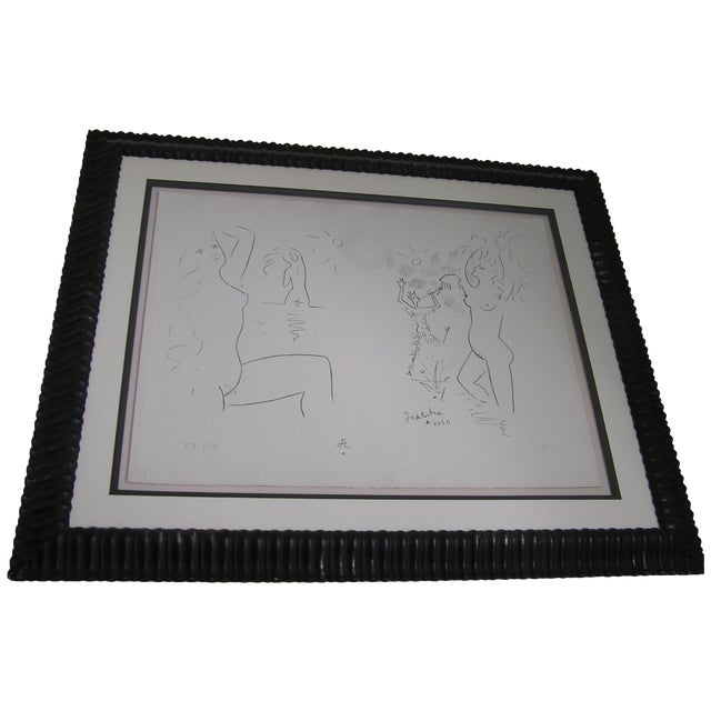 Vintage Dancing with the Devil Charcoal Drawing - Image 1 of 6