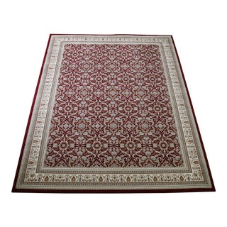 Traditional Red Herati Rug - 5′3″ × 7′4″