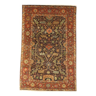 "Pasargad N Y Fine Serapi Design Hand-Knotted Rug - 3'11"" X 5'8"""