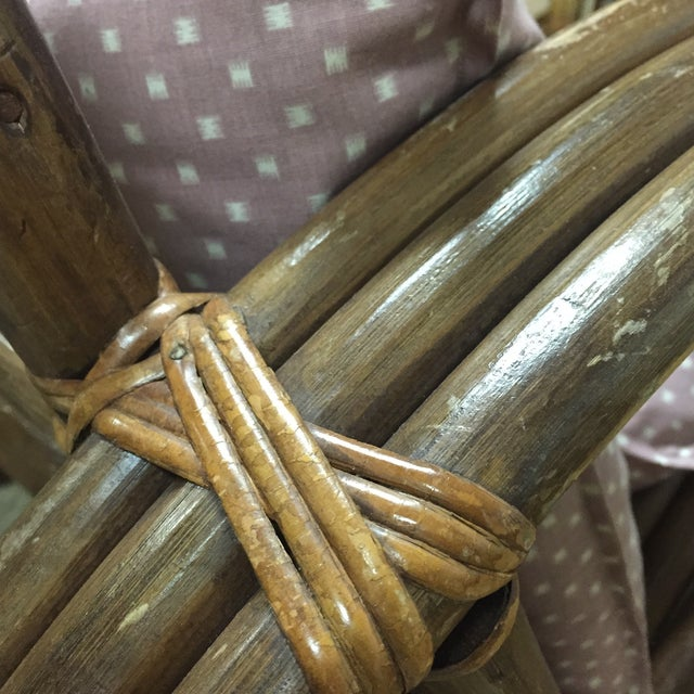 Paul Frankl Style Child's Rattan Sofa - Image 7 of 9