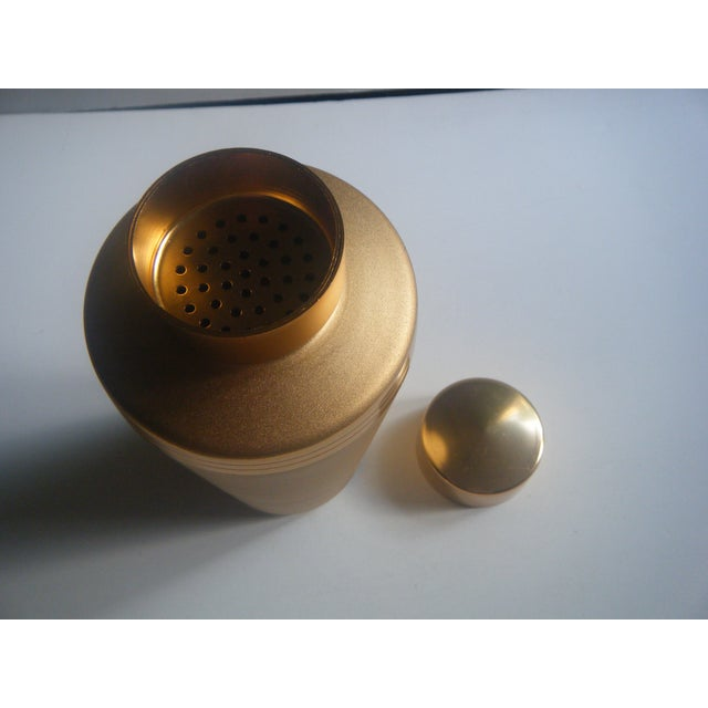 Image of Mirro Mid-Century Gold Cocktail Shaker