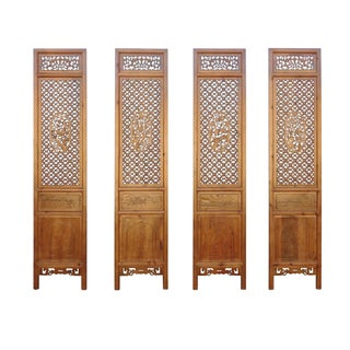 Chinese Carved Wood Panels - Set of 4