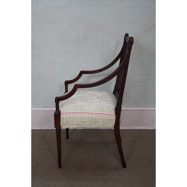 Beacon Hill Solid Mahogany Regency Style Arm Chair - Image 3 of 10