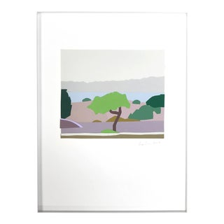 Landscape after Uglow - Framed Original Collage