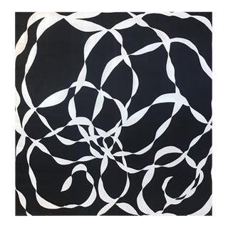 Mod Black & White Print on Silk