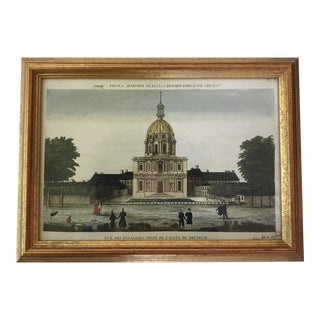 19th Century Paris Invalides Chromolithograph Print
