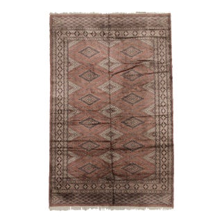 Hand-Knotted Silk Pakistani Rug - 3′11″ × 6′1″