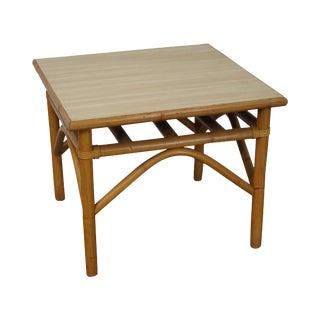 Vintage Vogue Rattan Square Side Table