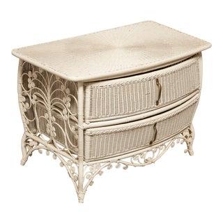 French Wicker Two Drawer Dresser