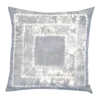 "Charcoal Hand Dyed Shibori Boho Pillow - 20"" x 20"""