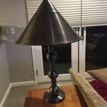 Image of Pewter Cone Lamps - A Pair