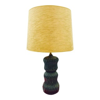 Vintage Mid Century Modern Black & Gold Lamp