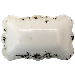 Milk Glass Trinket Box