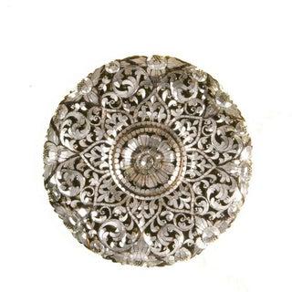 Floral Handcut Glass Round Mirror