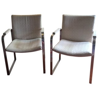 Milo Baughman Vintage Accent Chairs - Pair