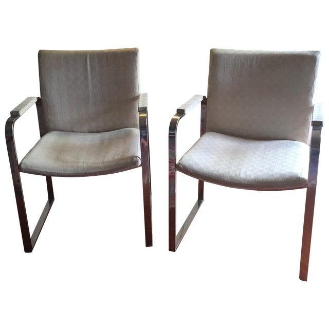 Milo Baughman Vintage Accent Chairs Pair Chairish