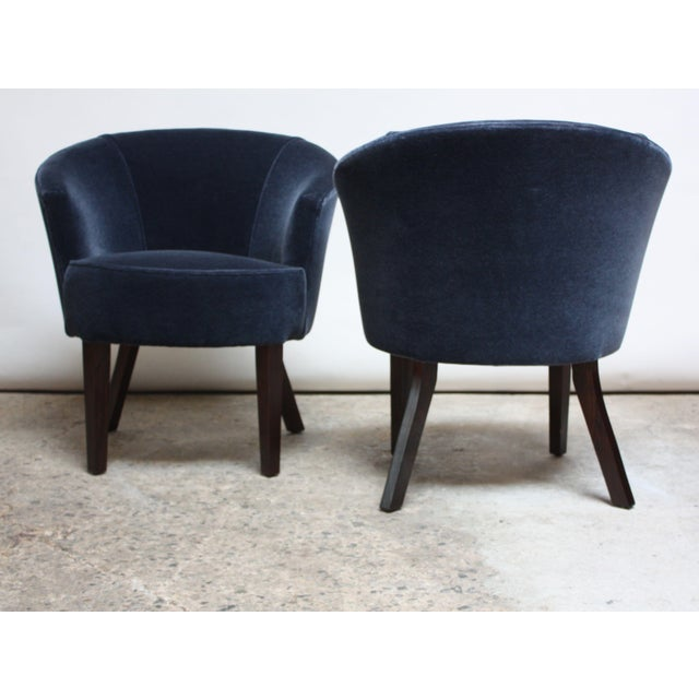Pair of English George Smith 'Petworth' Tub Chairs in Mohair - Image 4 of 11