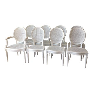 Louis XVI Cane Dining Chairs- Set of 8
