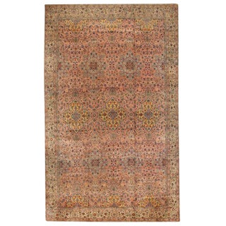 Antique Oversize Late 19th Century Persian Lavar Kerman Carpet