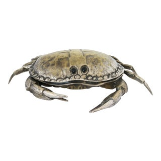 Silver Plated Crab Dish